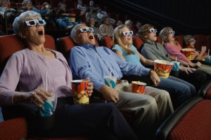People Watching 3-Dimensional Movie --- Image by © Corbis